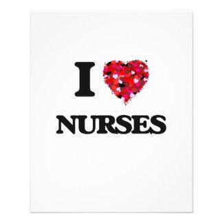 """I love Nurses 4.5"""" X 5.6"""" Flyer"""