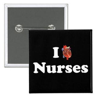 I love nursing 15 cm square badge