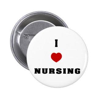 I Love Nursing 6 Cm Round Badge