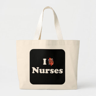 I love nursing jumbo tote bag