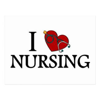 I Love Nursing Postcard