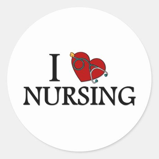 I Love Nursing Sticker