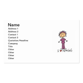 I Love Nursing T-shirts and Gifts Pack Of Standard Business Cards