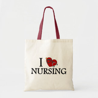 I Love Nursing Tote Bag