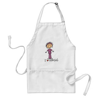 I Love Nursing Tshirts and Gifts Standard Apron