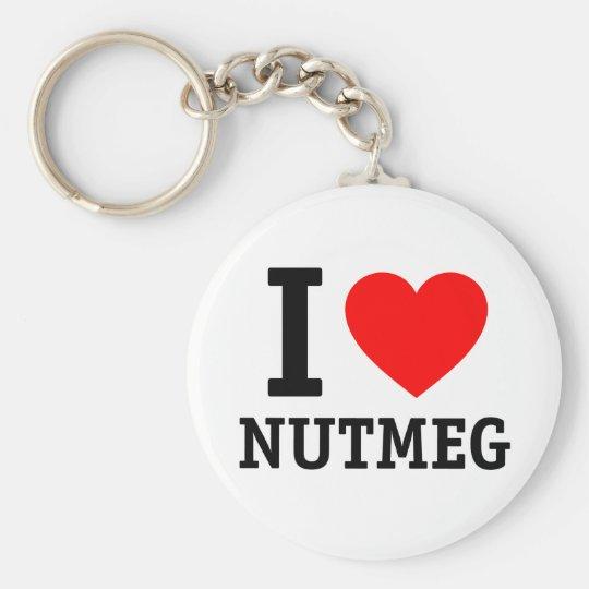 I Love Nutmeg Key Ring