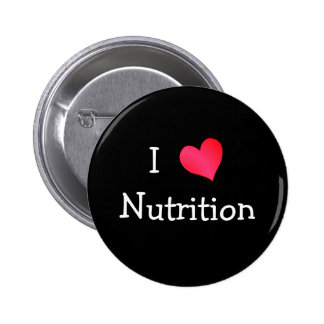 I Love Nutrition 6 Cm Round Badge