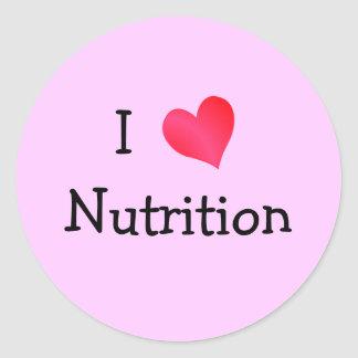 I Love Nutrition Round Sticker
