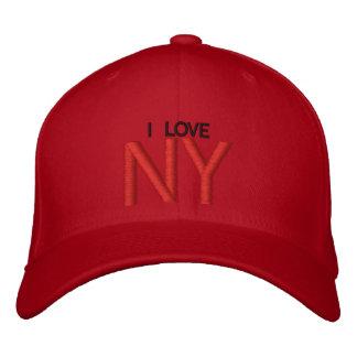 I LOVE NY EMBROIDERED BASEBALL CAP