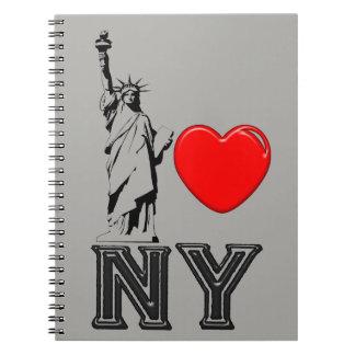 I Love NY Spiral Notebook