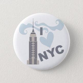 I Love NYC 6 Cm Round Badge