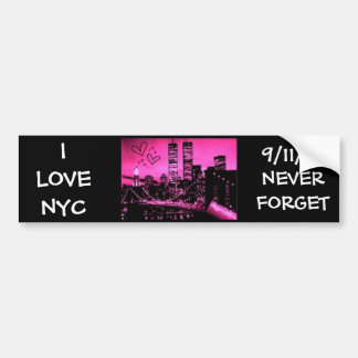 I LOVE NYC, 9/11/01 BUMPER STICKER