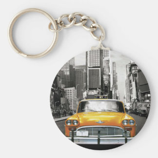 I Love NYC - New York Taxi Basic Round Button Key Ring