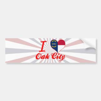 I Love Oak City, North Carolina Bumper Sticker