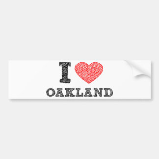 I Love Oakland Bumper Sticker
