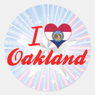 I Love Oakland, Missouri Sticker