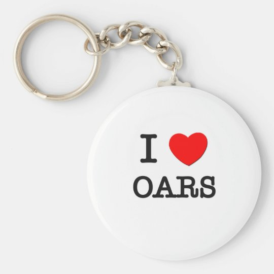 I Love Oars Basic Round Button Key Ring