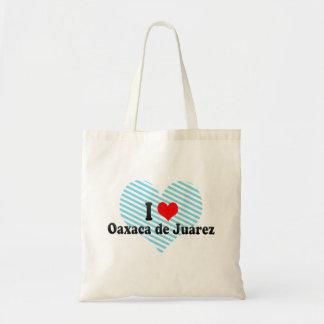 I Love Oaxaca de Juarez, Mexico Tote Bags
