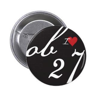I Love ob27 6 Cm Round Badge