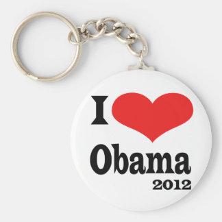 I Love Obama4x4 Basic Round Button Key Ring