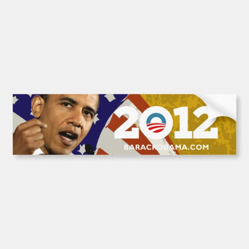 I Love Obama 2012 Bumper Sticker