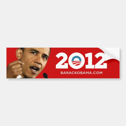 I Love Obama Biden 2012 Bumper Sticker