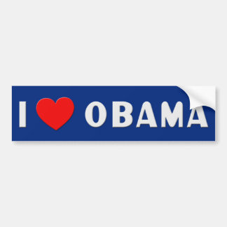I Love Obama Bumpersticker Bumper Sticker