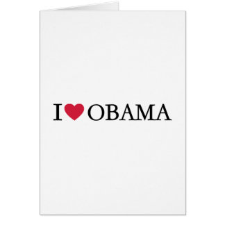 I love Obama Greeting Cards