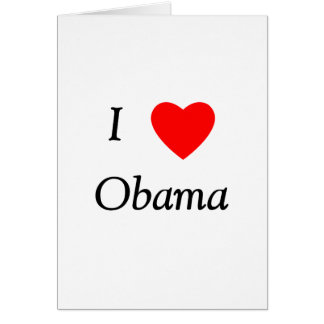 I Love Obama Note Card