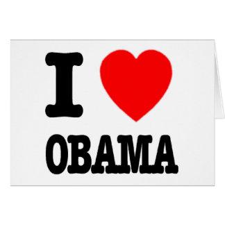 I Love Obama Cards