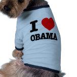 I Love Obama Doggie T Shirt