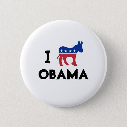 I Love Obama Donkey Button
