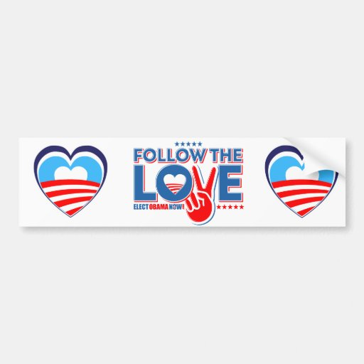 I love Obama - Elect Obama Now Bumper Sticker
