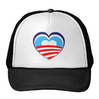 I love Obama - Elect Obama Now Mesh Hats