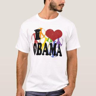I Love Obama Gay Peace T-Shirt