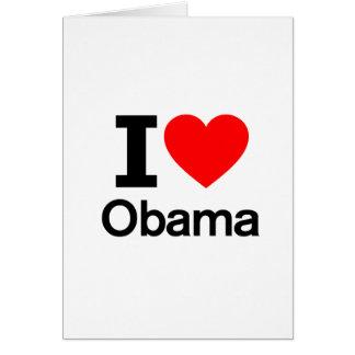 I Love Obama Greeting Card