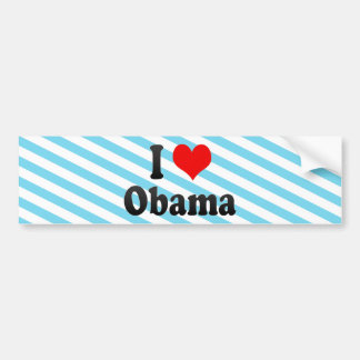 I Love Obama, Japan Bumper Sticker