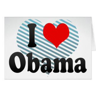 I Love Obama, Japan Greeting Card