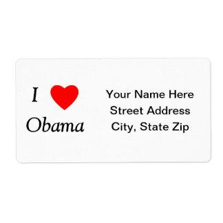I Love Obama Shipping Label