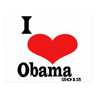 I Love Obama Post Card