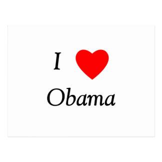 I Love Obama Post Cards