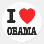 I Love Obama Sticker