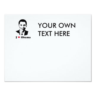 I Love Obama T-shirt 11 Cm X 14 Cm Invitation Card