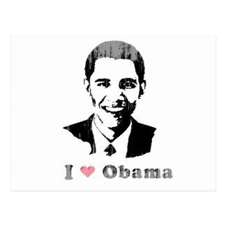 I Love Obama- Vintage.png Post Cards