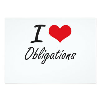 I Love Obligations 13 Cm X 18 Cm Invitation Card