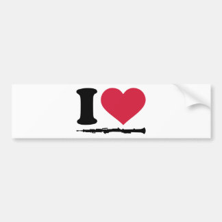 I love Oboe Bumper Stickers