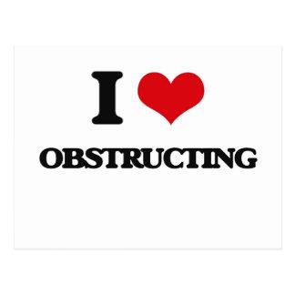 I Love Obstructing Postcards