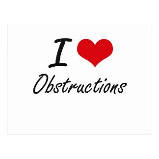 I Love Obstructions Postcard