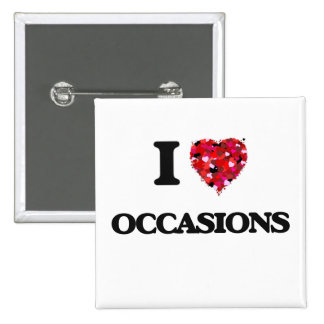 I Love Occasions 15 Cm Square Badge