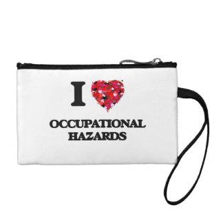 I Love Occupational Hazards Coin Purses